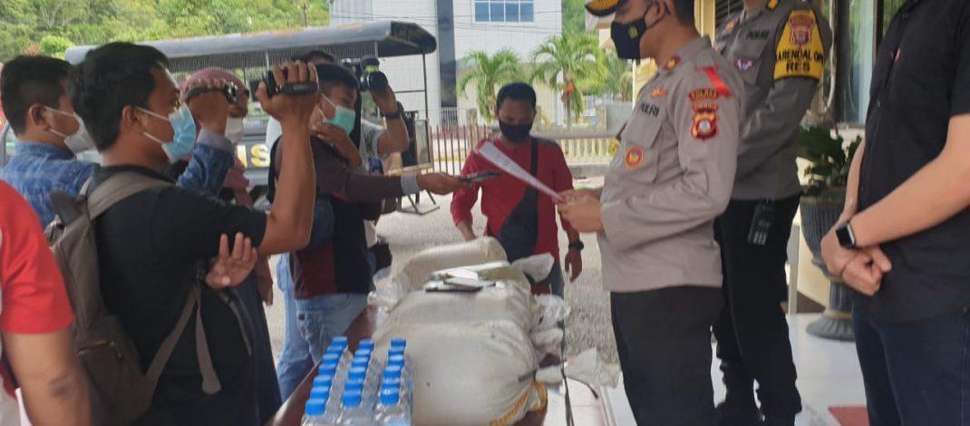 Jelang Idul Fitri, Sat Narkoba Polres Gorontalo Kota Sita 4600 Miras (cap tikus)