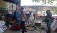 Kapolres Gorontalo Kota cek Prokes Di Pasar tradisional