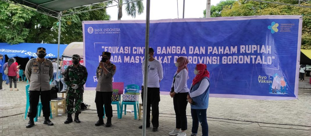 Gandeng Bank Indonesia, Polres Gorontalo Kota Percepat Program Vaksinasi